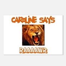 Caroline Says Raaawr (Lion) Postcards (Package of