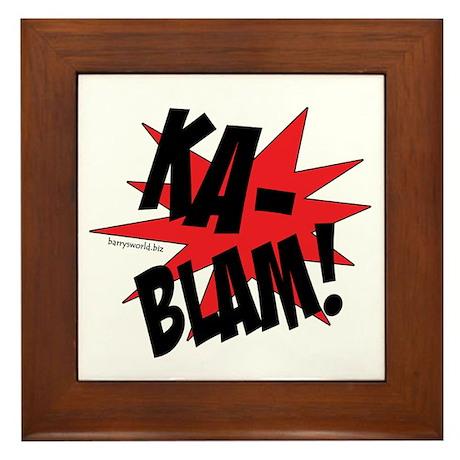 KABLAM! Framed Tile
