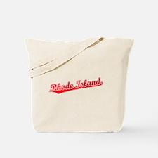 Retro Rhode Island (Red) Tote Bag