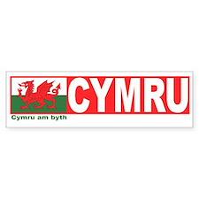 Cymru Bumper Car Sticker
