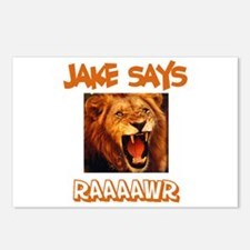 Jake Says Raaawr (Lion) Postcards (Package of 8)