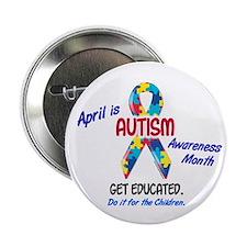 "Autism Awareness Month 1 2.25"" Button"