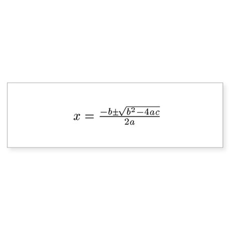 Quadratic Bumper Sticker