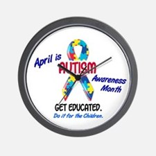 Autism Awareness Month 1 Wall Clock