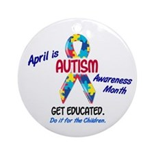 Autism Awareness Month 1 Ornament (Round)