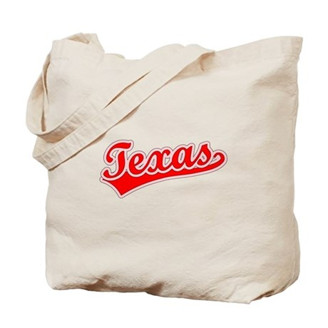 Retro Texas (Red) Tote Bag