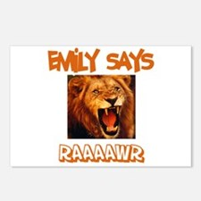Emily Says Raaawr (Lion) Postcards (Package of 8)