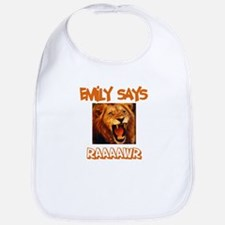 Emily Says Raaawr (Lion) Bib