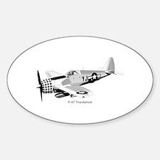 P-47 Thunderbolt Oval Decal