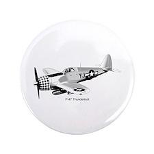 "P-47 Thunderbolt 3.5"" Button"