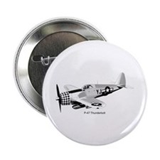 "P-47 Thunderbolt 2.25"" Button"