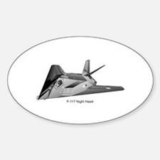F-117 Night Hawk Oval Decal