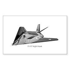 F-117 Night Hawk Rectangle Decal