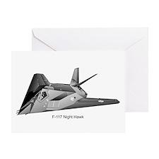 F-117 Night Hawk Greeting Card