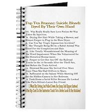 Top Ten Suicide Blond Reasons Journal