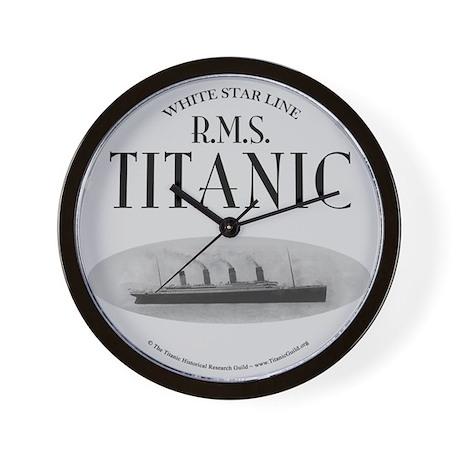 "Titanic Ghost Ship (white) 10"" Wall Clock"