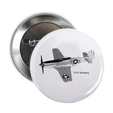 """P-51 Mustang 2.25"""" Button"""