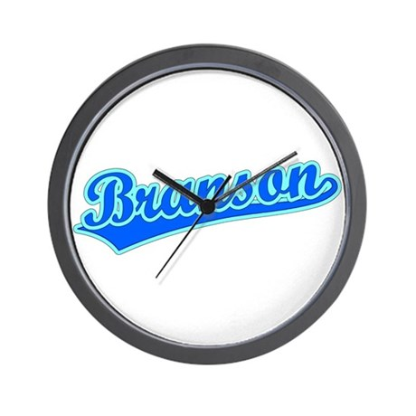 Retro Branson (Blue) Wall Clock