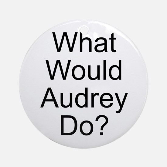 Audrey Ornament (Round)