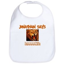 Jonathan Says Raaawr (Lion) Bib