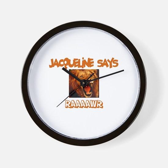 Jacqueline Says Raaawr (Lion) Wall Clock