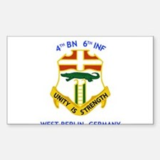 4th BN 6th INF Rectangle Decal