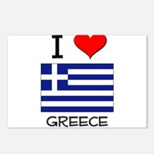 I Love Greece Postcards (Package of 8)