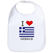 I Love Greece Bib