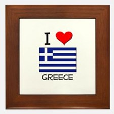 I Love Greece Framed Tile