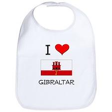 I Love Gibraltar Bib