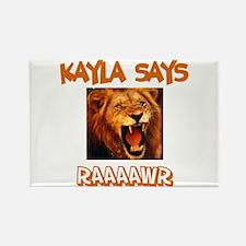 Kayla Says Raaawr (Lion) Rectangle Magnet