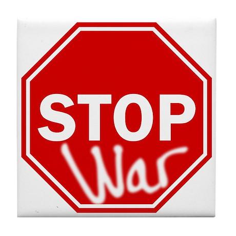 Stop War Tile Coaster