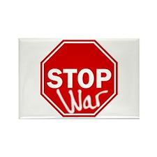 Stop War Rectangle Magnet