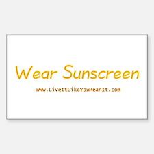 Wear Sunscreen Rectangle Sticker 10 pk)