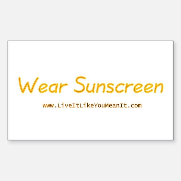 Wear Sunscreen Rectangle Sticker 10 pk)