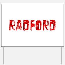 Radford Faded (Red) Yard Sign