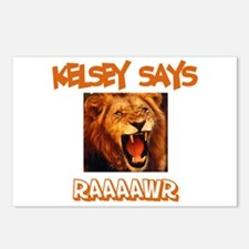 Kelsey Says Raaawr (Lion) Postcards (Package of 8)
