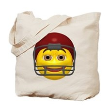 Football Helmet Face Tote Bag