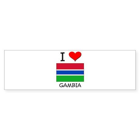 I Love Gambia Bumper Sticker