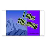 I Miss The Smog Rectangle Sticker