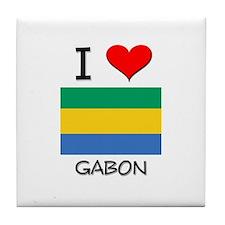 I Love Gabon Tile Coaster
