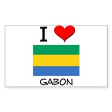 I Love Gabon Rectangle Decal