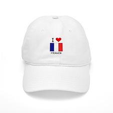 I Love France Baseball Cap