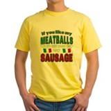 Italian pride Mens Yellow T-shirts