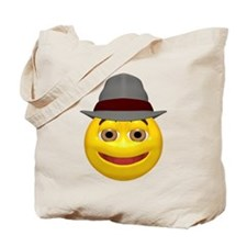 Derby Hat Happy Face Tote Bag