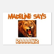 Madeline Says Raaawr (Lion) Postcards (Package of