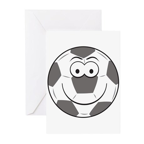Soccer Ball Smiley Face Greeting Cards (Pk of 20)