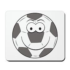 Soccer Ball Smiley Face Mousepad