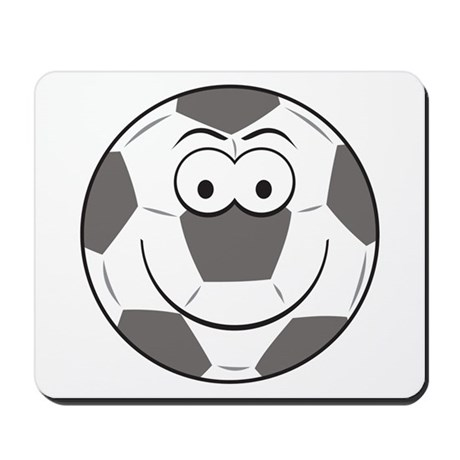 Soccer Ball Smiley Face Mousepad