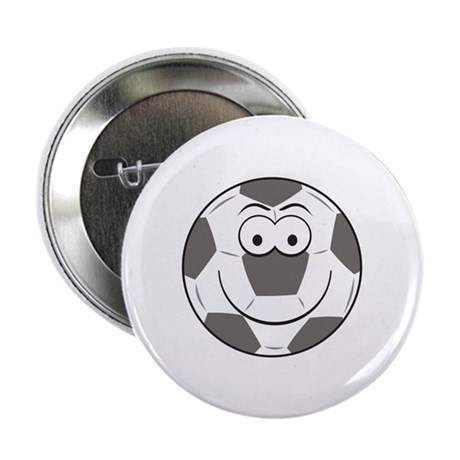 "Soccer Ball Smiley Face 2.25"" Button (10 pack)"